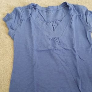 Blue blouse short sleeve